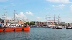 Sail Amsterdam 2015 Stock Footage