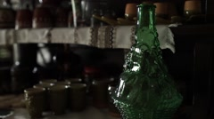 Folk bottles and cups Stock Footage