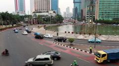 Jakarta Plaza Indonesia time lapse Stock Footage
