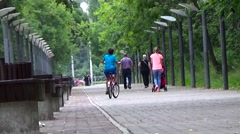 Walk in the park. Stock Footage