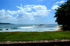 Panorama of the sea in Galle Sri Lanka Stock Photos