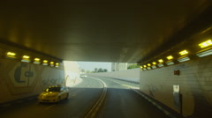 Tunnel Road shot Stock Footage