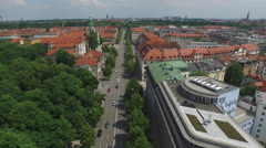 Aerial view of Munich with buildings Stock Footage