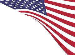 Background of American flag Piirros