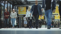 Travel Station people walking travelling 1 Stock Footage
