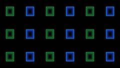 VJ Loop Animation Neon Square Tunnel Art Background Visual - stock footage