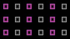 VJ Loop Animation Neon Square Art Background Visual - stock footage