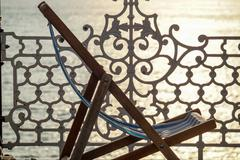 Deck chair - stock photo