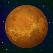 Planet Venus in space - stock illustration