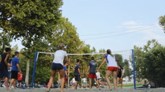 VolleyBall Sand recreation 03 - stock footage