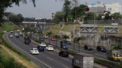 Highway situation in a big city Stock Footage