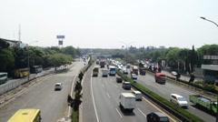 Timelapse Highway in Jakarta Stock Footage