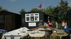 Brinkley's Fish Shed, Orford, Suffolk, England, United Kingdom Stock Footage