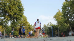 Stock Video Footage of VolleyBall Sand recreation 05