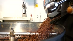 Stock Video Footage of pouring coffe beans SLOW-MO