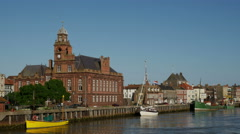 River Yare, Great Yarmouth, Norfolk, England, United Kindom Stock Footage