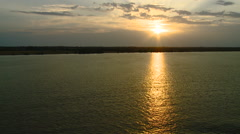 France - Bordeaux - Sunset on the River Garonne 2 Stock Footage