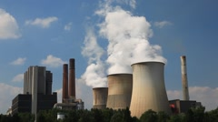Nuclear power plant Stock Footage