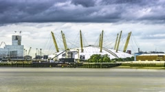 Timelapse of the Millennium dome in London Stock Footage