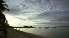 4k Time Lapse of Sunset at Fisherman's Village Beach in Ko Samui, Thailand Stock Footage