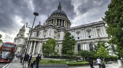 Timelapse view of Saint Paul cathedral in London Stock Footage
