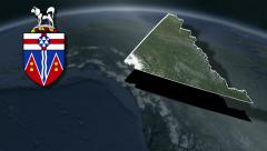 Yukon whit Coat of arms animation map - stock footage