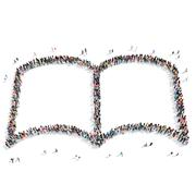 People shape  book  isolated Stock Illustration
