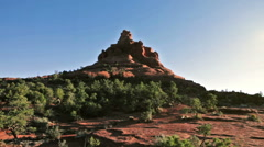 Courthouse and Bell Rock in Sedona, Arizona Stock Footage