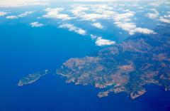 Aerial view of Majorca north of Malorca balearic Stock Photos