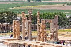 Stock Photo of Persepolis Xerxes gateway