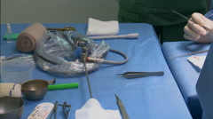 Surgery in an operating room Stock Footage