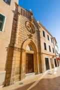 Stock Photo of Ciutadella Menorca carrer Mao church downtown