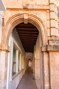 Ciutadella Menorca Ses Voltes arches Ciudadela - stock photo