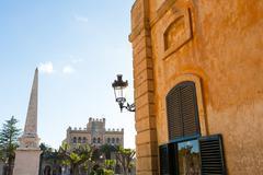 Ciutadella Menorca Placa des Born in downtown Ciudadela - stock photo