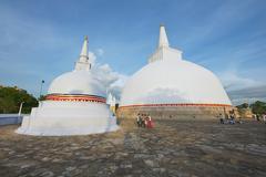 Exterior of the Ruwanwelisaya stupa in Anuradhapura, Sri Lanka. - stock photo