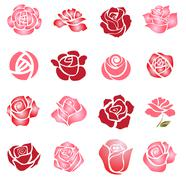 Roses design elements Piirros