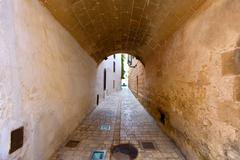 Stock Photo of Ciutadella Menorca barrel vault passage downtown