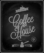 Coffee sign chalkboard background Stock Illustration