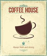 Coffee vintage background Stock Illustration