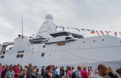 Dutch military navy vessel at Sail Amsterdam Kuvituskuvat