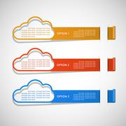 Option for text clouds theme Stock Illustration