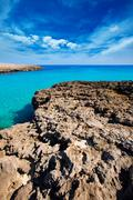 Menorca Cala des Talaier beach in Ciutadella at Balearic Stock Photos