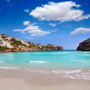 Cala en Porter beautiful beach in menorca at Balearics - stock photo