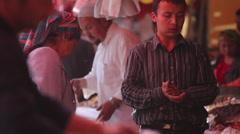 Shopping at Kashgar Grand Bazaar, Xinjiang Stock Footage
