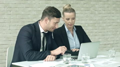 Doing Business Report Together - stock footage