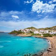 Fornells in Menorca Cala Tirant beach at Balearic Islands - stock photo
