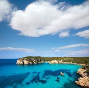 Stock Photo of Cala Macarella Macarelleta Cituradella in Menorca Balearic