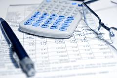 Business concept - financial report Stock Photos