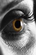 Macro on human eye Stock Photos