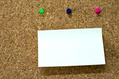 Blank reminder on wooden board Stock Photos
